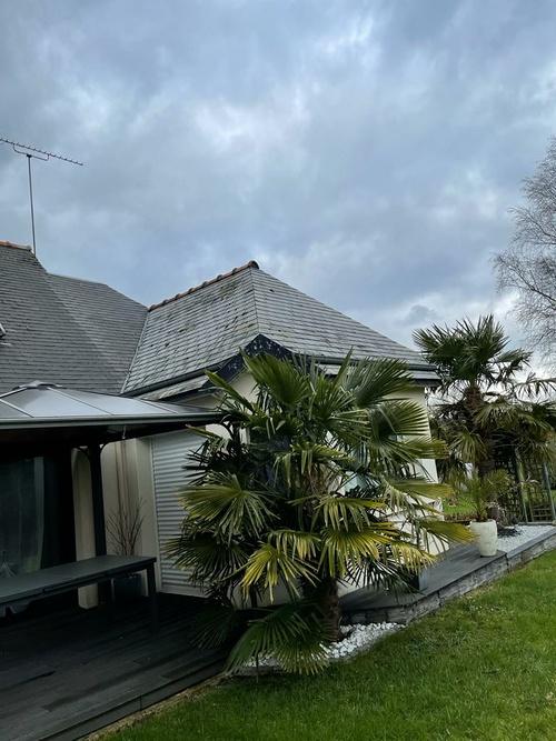 Hydrofuge sur toiture ardoise fibrociment sans amiante - Saint Julien