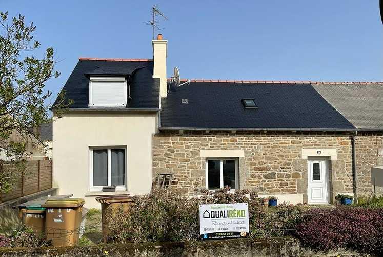 Rénovation toiture - hydrofuge sur ardoise naturelle - Saint Julien 2