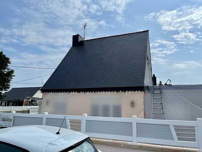 Rénovation toiture fibrociment amiante - traitement hydrofuge - Cavan 3